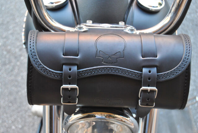 TOOL BAG SKULL STAMP FOR HARLEY DAVIDSON BIKES MADE OF THE BEST ITALIAN LEATHER