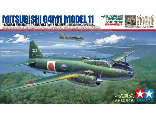 TAMIYA 1 48 KIT AEREO DA MONTARE MITSUBISHI G4M1 MODEL 11 CON FIGURE  ART 61110