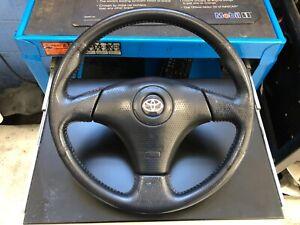 3 Spoke red stitch OEM Toyota Steering Wheel black Supra MR2 Celica TRD JDM