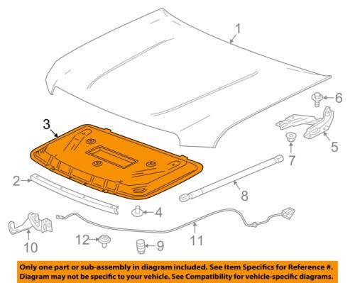 GMC GM OEM 15-18 Canyon Hood-Insulation Pad Liner Heat Shield 84108316