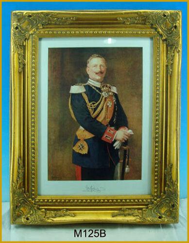 Gemaelde Bild Rahmen Preussen Kaiser Wilhelm II M125B
