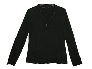 NEW-LADIES-EX-BHS-FULL-ZIP-ACTIVEWEAR-JACKET-TOP-SPORTS-GYM-CASUAL-SZ-8-22-Black