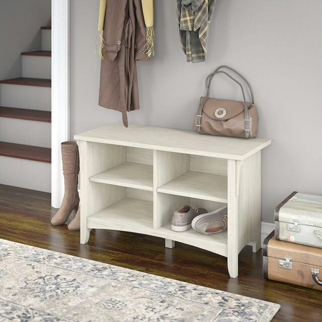 Terrific Shoe Storage Bench Antique White Top Entryway Living Room Hallway Wood Furniture Inzonedesignstudio Interior Chair Design Inzonedesignstudiocom