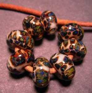 5FISH ~ Handmade Lampwork Boro Spacer Beads ~ Earthy Elements