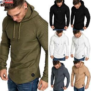 Mens Sweatshirt Brushed Fleece Top Pullover Plain Top Jumper Sweater Warm Casual