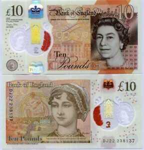 England Great Britain 10 Pounds 2016 /2017 Polymer Sign. Sarah John P 395 b UNC