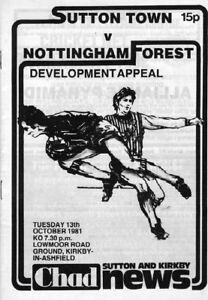 SUTTON-TOWN-V-NOTTINGHAM-FOREST-13-10-1981-FRIENDLY-PROGRAMME