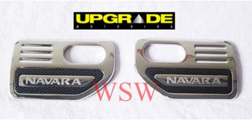 2 x CHROME SIDE VENT TRIM FOR NISSAN NAVARA D40 STX SX 2005 - 2009 06 07 08 09