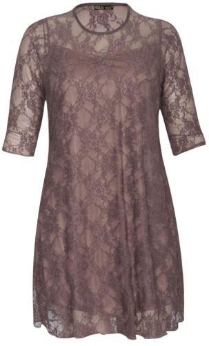 Nouveaux Femmes Grande Taille contraste coloré dentelle doublées robe de soirée