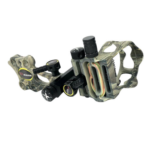 "Aluminum Alloy Micro Adjust 5 Pin .019/"" Compound Bow Sight Right Hand Camo"