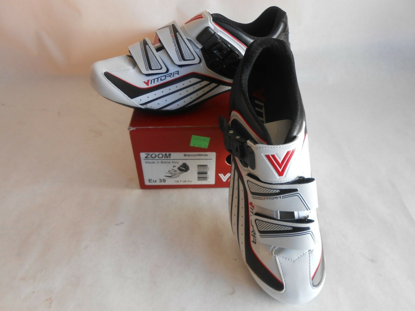 Road Us Shoes Men's Vittoria White Size Bicycle 7 Zoom Cycling Italy MjqSGULzVp
