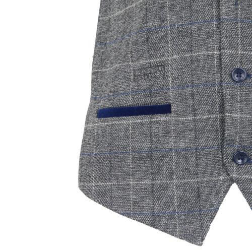Da Uomo Marc Darcy Herringbone controllo velluto Trim formale casual Blazer Gilet