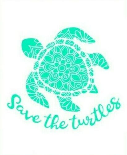 Environment Green Eco Vinyl Sticker Wall Decal A4 Home Save the Turtles