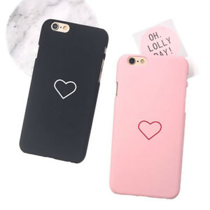 bec7710d7e Love Heart Painted Back Cover Couples Phone Case For iPhone 6 6s 7 8 ...