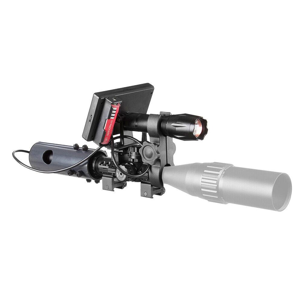 Linterna IR de 850nm + monitor de visión nocturna, adecuado para Alcances