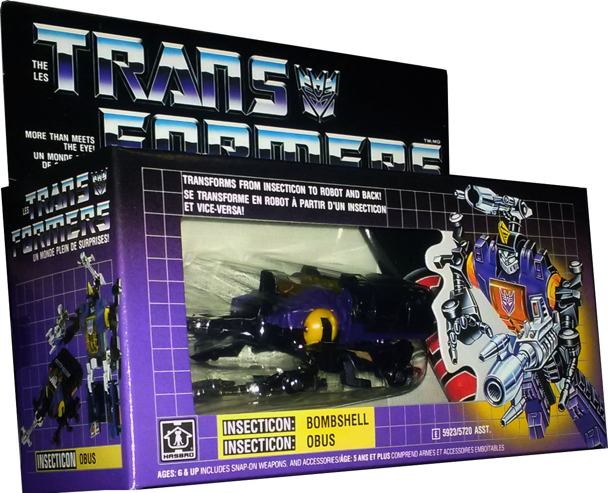 Transformers Insecticon  Bombshell - Vintage G1 1985 - Nuovo Misb Afa It