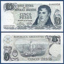 ARGENTINIEN / ARGENTINA 5 Pesos (1974-76) UNC P.294