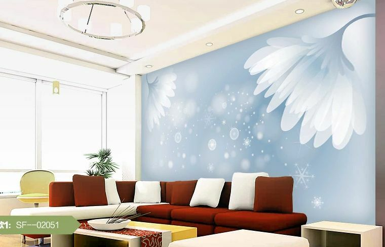 3D Fresh bluee Flowers Wall Paper Wall Print Decal Wall Deco Indoor wall Murals