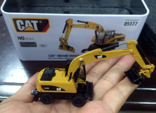 New Packing ! DM DieCast Masters - Cat M318D Wheel Excavator - HO Scale - #85177
