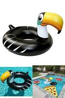 U.s. Pool Supply Giant 4 Foot Inflatable Black Toucan Pool Ring Tube Float - Fun