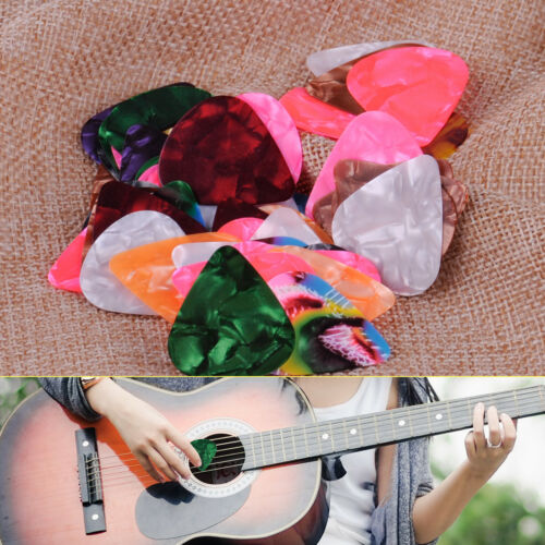50x Celluloid Plektren Plektrum Pleks Guitar Picks E-Bass Ukulele Stufe 0.46mm
