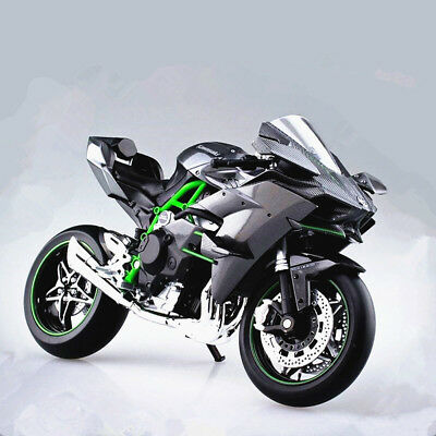 Kawasaki Ninja H2r >> 1 12 Kawasaki Ninja H2r Motorcycle Model With Suspension New In Box Black 90159078746 Ebay