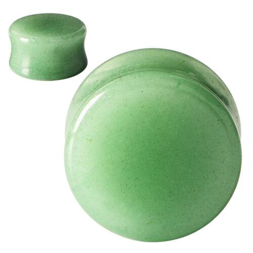 "1Pair Organic Stone Ear Gauges Flesh Tunnel Plugs Expander Body Piercing 2g-5//8/"""