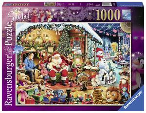 Ravensburger-Puzzle-1000-pieces-Let-039-s-Visit-Santa-CHRISTMAS-Noel-Neuf-dans-sa-boite