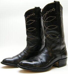 western cowboy da nera taglia 8d D pelle vintage 8 Stivali da in uomo FOSExKw