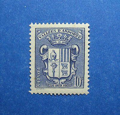 Stamps Brave 1937 Andorra French 10c Scott# 69 Michel # 53 Unused Cs26665