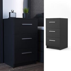 vicco nachtkommode boxspringbett nachtschrank nachttisch kommode schrank schwarz ebay. Black Bedroom Furniture Sets. Home Design Ideas
