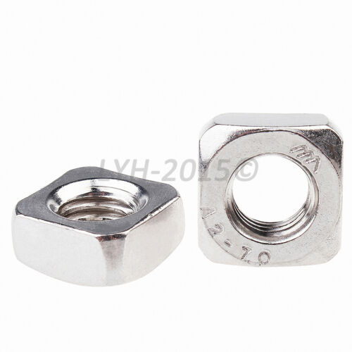 M3,4,5,6,8,10,12 Square Nuts to Fit Metric Bolts Screws A2 304 Stainless Steel