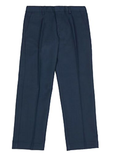 "NEW EX M /& S BOYS NAVY ADJUSTABLE WAIST SCHOOL TROUSERS 14 yrs 36/"" Waist NT10"