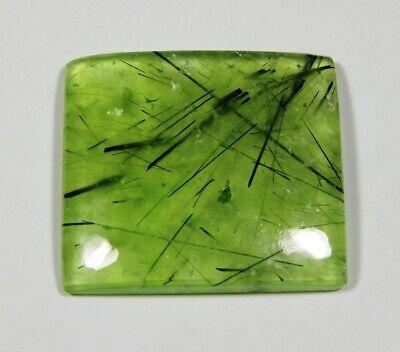 NATURAL RUTILE GREEN PREHNITE CABOCHON LOOSE MASSIVE GEMSTONE VARIATION PRT-A