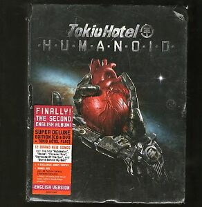 TOKIO-HOTEL-HUMANOID-Super-Deluxe-Edition-CD-amp-DVD-Flag-SEE-CONDITION