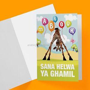 Arabic greeting cards birthday collection peekaboo giraffe ebay image is loading arabic greeting cards birthday collection peekaboo giraffe m4hsunfo