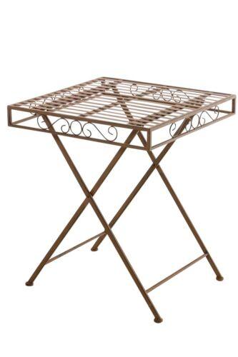 Gartentisch Funda antik Metalltisch Balkontisch Shabby Chic Vintage Eisentisch