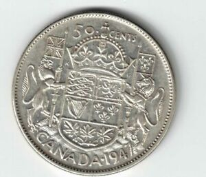 CANADA-1947-S7-50-CENTS-HALF-DOLLAR-KING-GEORGE-VI-CANADIAN-800-SILVER-COIN