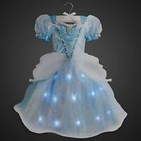 Disney Store Cinderella Light-up Costume Dress 4 5/6 7/8 9/10 11/12 13