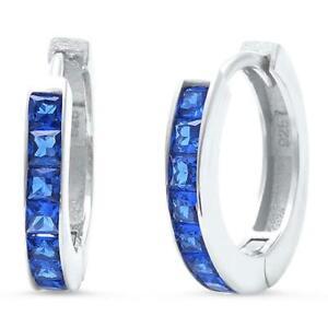 Sapphire-Baguette-Huggie-Hoop-Earrings-in-Sterling-Silver-Sept-BIRTHSTONE