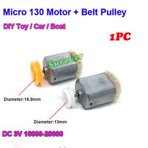 2PCS Micro 130 Motor DC 1.5V  5V 6V 12V12000RPM High Speed FF-130SH DIYHobby Toy