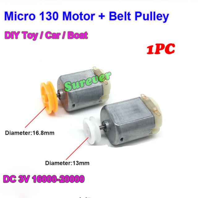 Mini 130 DC Motor DC1.5V 3V 5V 6V 16000RPM High Speed Belt Pulley DIY Toy Car