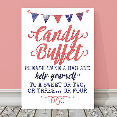 White Linen Card, A3 Grey and Pink Sweet Table Sign GP8