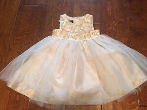 Faithful Infant Toddler Holiday Dress 12m Holiday Editions Gold Shimmer 2 Layer Netting Latest Fashion Girls' Clothing (newborn-5t)