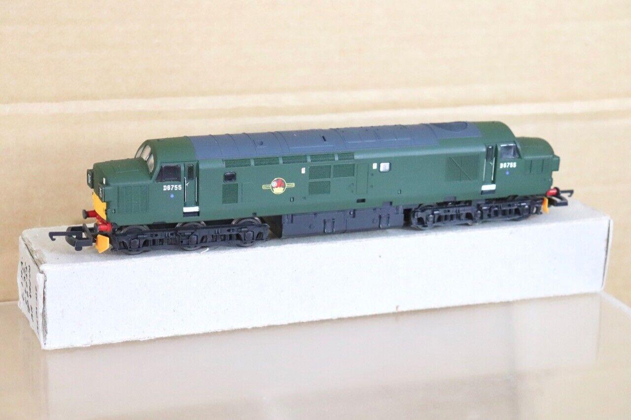 LIMA RE RE RE PAINTED BR verde classe 37 DIESEL LOCOMOTIVE D6755 nt daf497