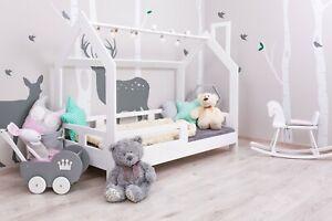 Kinderbett Kinderhaus Bett für Kinder Holz Häuschenbett Farben 5 Tage