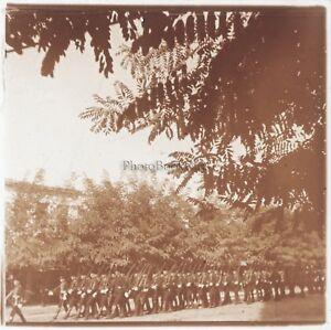 Albanie-Soldats-Photo-Plaque-de-verre-Stereo-Positive-E20-Vintage-ca-1910