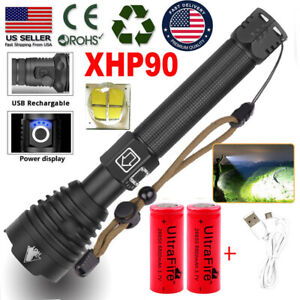990000LMS-xhp90-xhp70-xhp50-Ultra-Bright-LED-18650-Rechargeable-Zoom-Flashlight