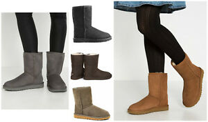 New-UGG-BNIB-155-Leather-Fur-Suede-CLASSIC-SHORT-Women-039-s-Shoes-Boots