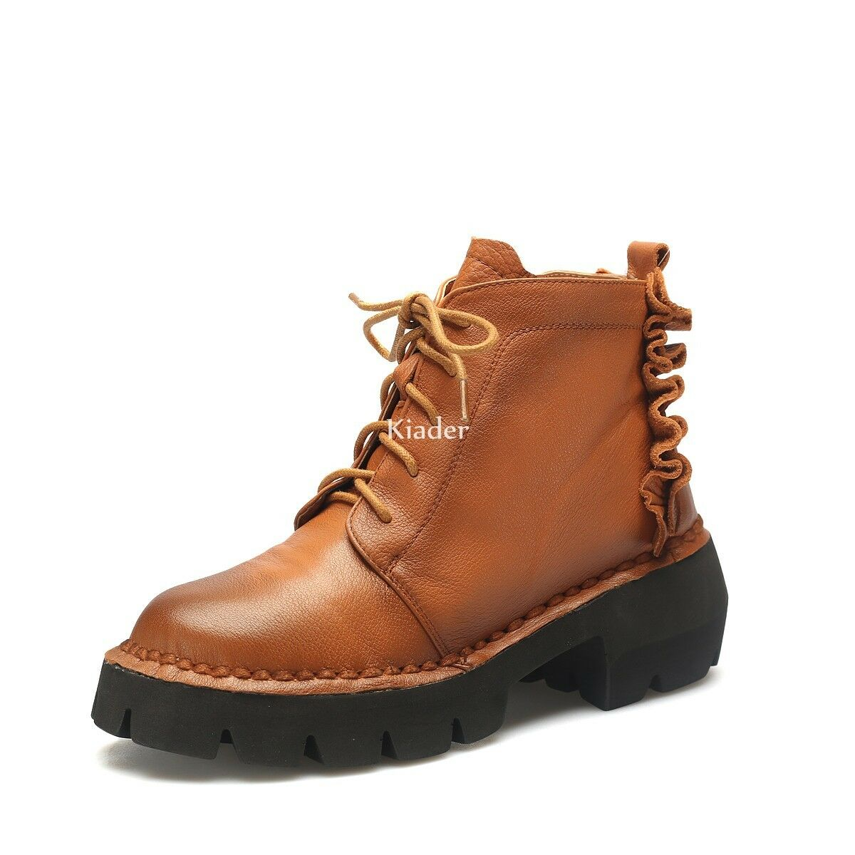 Fashion Womens Real Leather Comfort Lace Up Comfort Ankle boots Casual shoes NEW